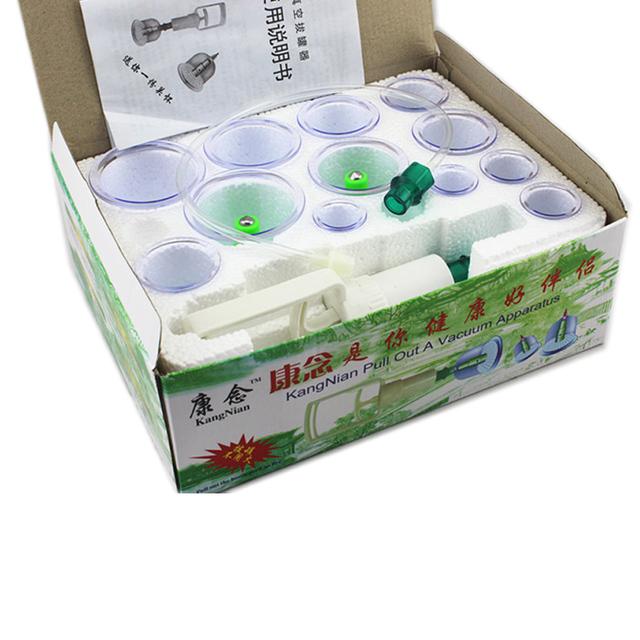 12 Copas de Vacío de Catación Médica Eficaz Cuerpo Hombro Nec Volver Masajeador Magnética Cupping Acupuntura Latas Ventosa C772