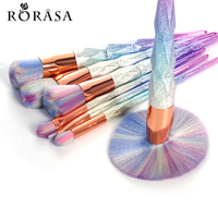 7pcs Thread Rainbow Handle Unicorn Makeup Brushes Beauty Cosmetics Blusher Powder Blending Smooth Brush Tools Contour