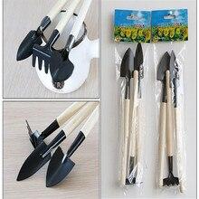 Горячая 1 Набор мини маленькая лопата грабли лопата деревянная ручка металлическая головка дети ролевые инструменты игрушки AUG 30