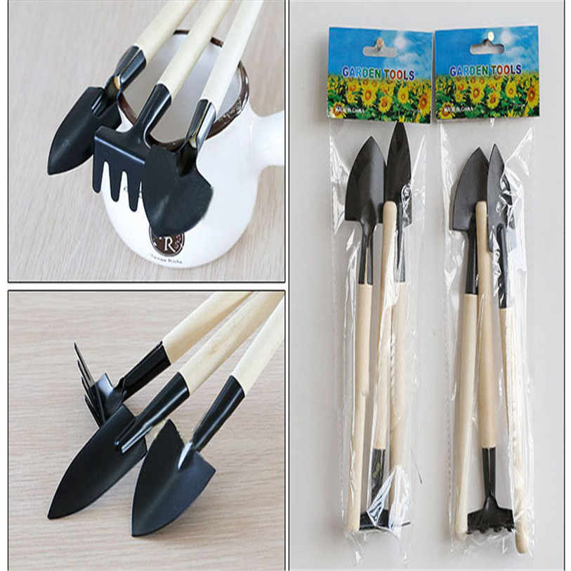 HOT 1Set Mini Small Shovel Rake Spade Wood Handle Metal Head Kids Pretend Tool Toys AUG 30