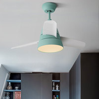 30 Inch Modern Simple Bedroom Fan Chandelier Living Room Lights Makaren Fan LED Lamp Dinning Room Lamp Coffee Shop lamp