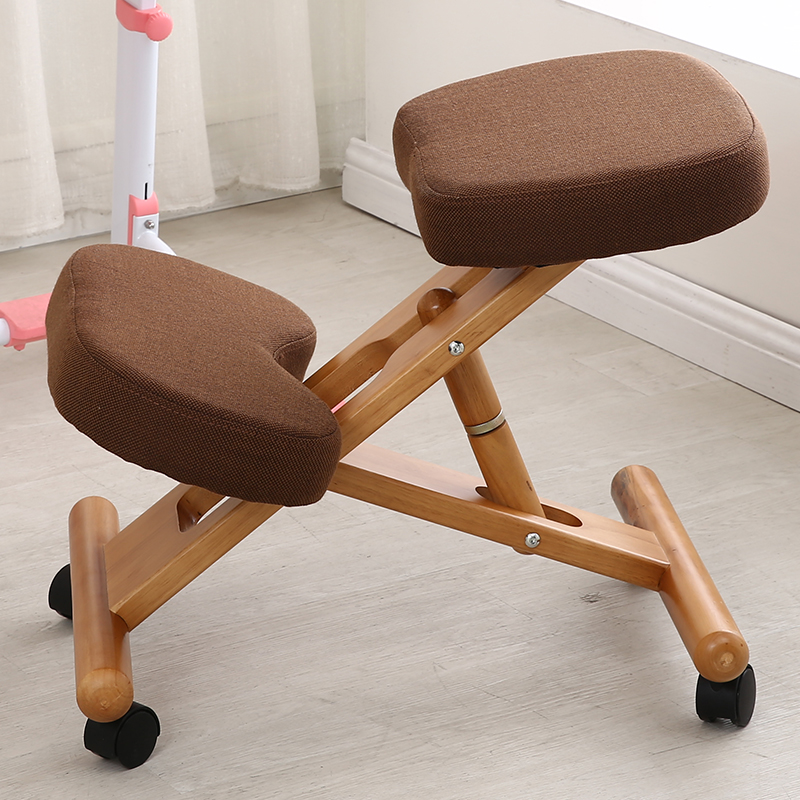 Ergonomic Kneeling Chair With Caster Stool Wood Office Posture Support Furniture Ergonomic Wooden Chair Balancing Body Back Pain 4pcs set black plastic 40mm replacement angle brake swivel casters office chair wheels furniture hardware rolling roller caster