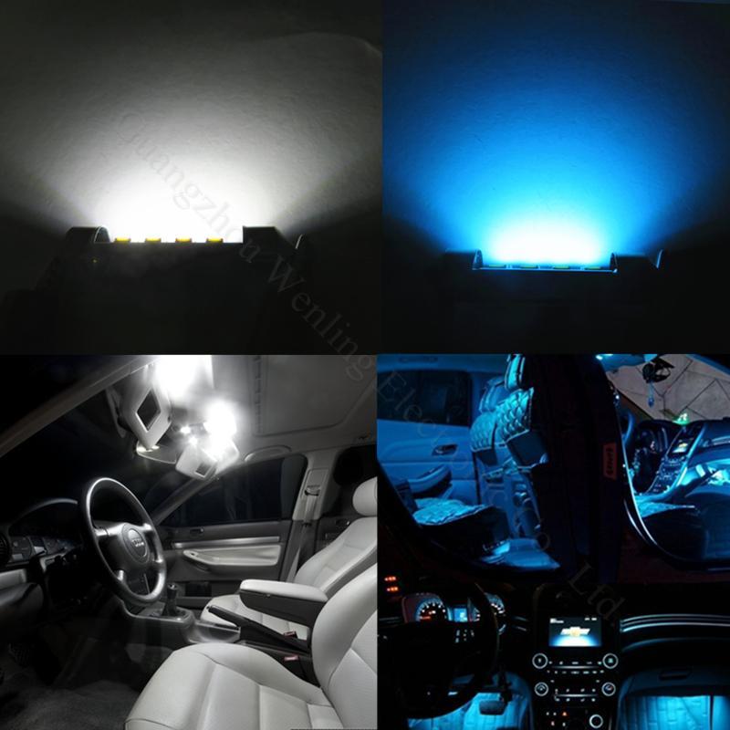 WLJH ყინულის ლურჯი თეთრი 31mm C5W - მანქანის განათება - ფოტო 5