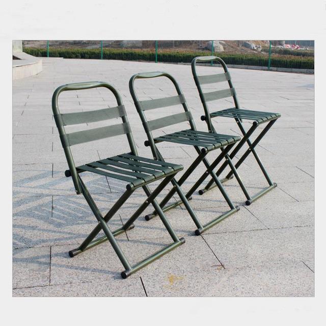 1 PC Portátil Mazar cadeira dobrável cadeira militar adulto cadeira de pesca ao ar livre trem pequeno banco banquinho banquinho baixo SY17