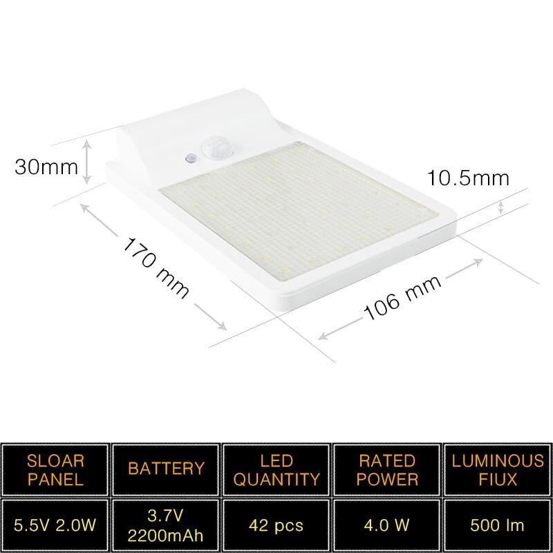 High Lumen Solar LED Street Light SMD 3528 IP65 Waterproof Energy Saving Motion Sensor Solar LED Lamp