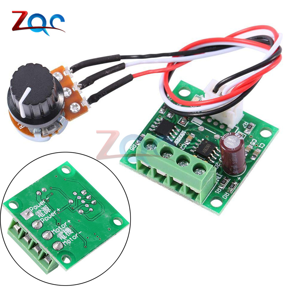 PWM DC Motor Speed Controller Automatic Regulator Control Low Voltage Module DC 1.8V To 3V 5V 6V 12V 15V 2A W/ Potentiometer
