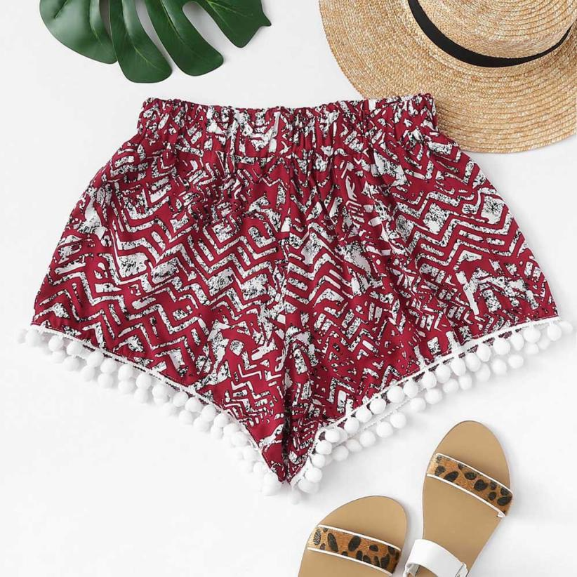 Women shorts  Women Summer Printed Loose Hot  Lady Summer  Shorts Trousers  july30