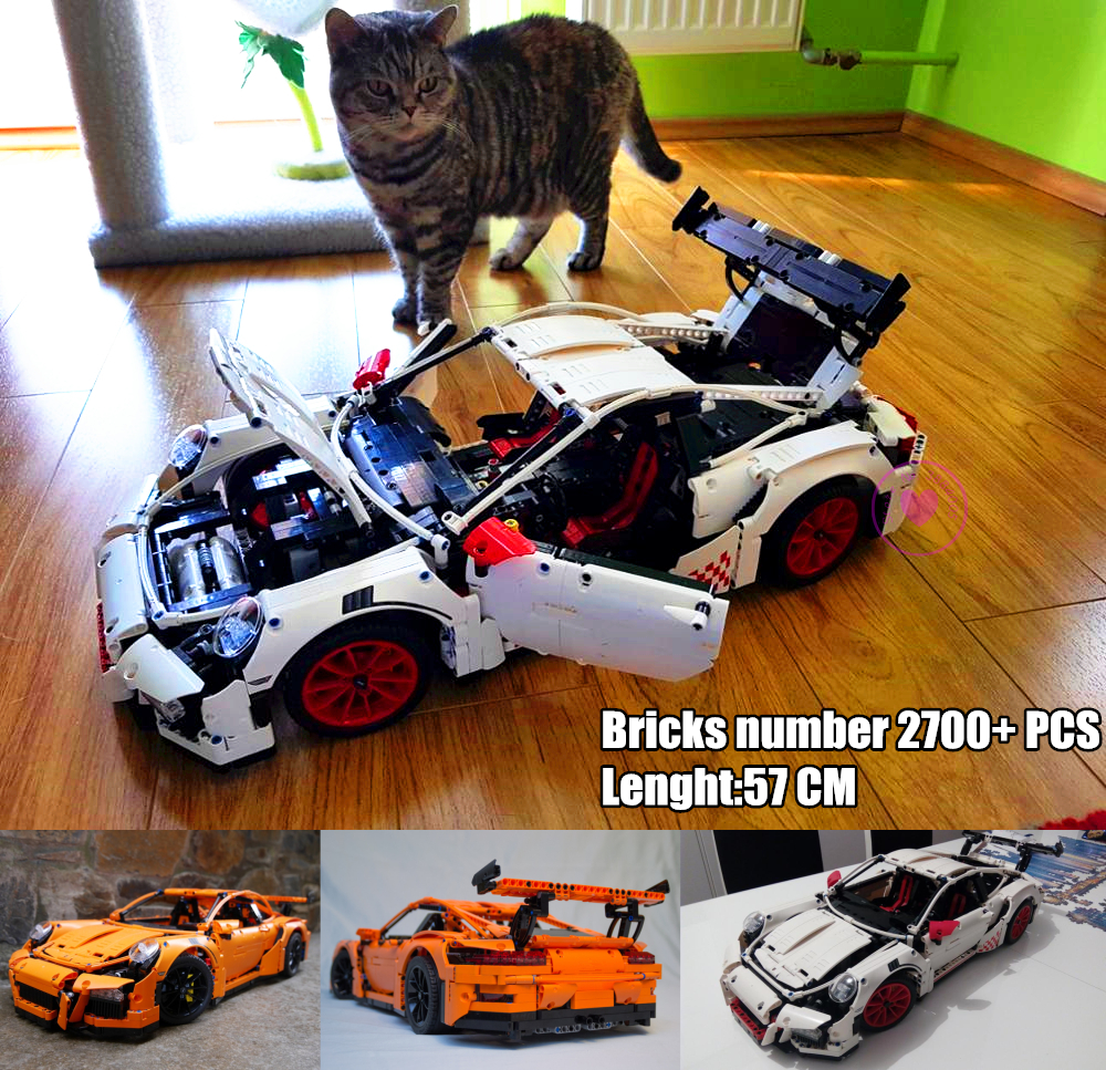 New Technic Super racing car fit technic white speed car model building kits blocks bricks diy toys boys birthday gift-in Blocks from Toys & Hobbies    1