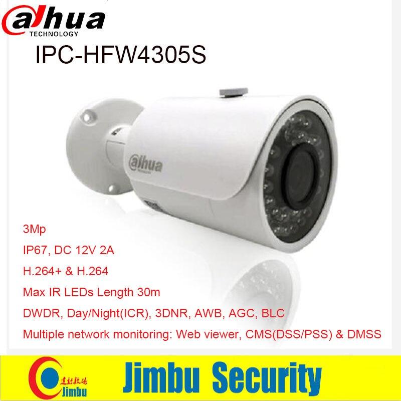 DAHUA 3MP IP kamera IPC-HFW4305S Kugel IR 30 mt 1080 p Wasserdichte außen full HD CCTV sicherheit kamera