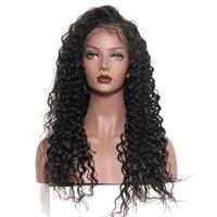 Шелк базы Full Lace натуральные волосы парики натуральных волос глубокая волна бразильский Волосы remy парик предварительно сорвал с волосы млад