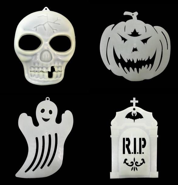 5pcs/lot Skull Luminous Sticker Fluorescent Ghost Halloween Pumpkin ...