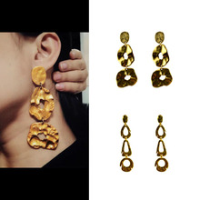 Vintage Irregular exaggerated statement earrings for women mass effect gold 2019 kupe kolczyki oorbellen brincos