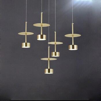 postmoderno plata colgante LED acrílico luces oro hierro xEdCBWroQe