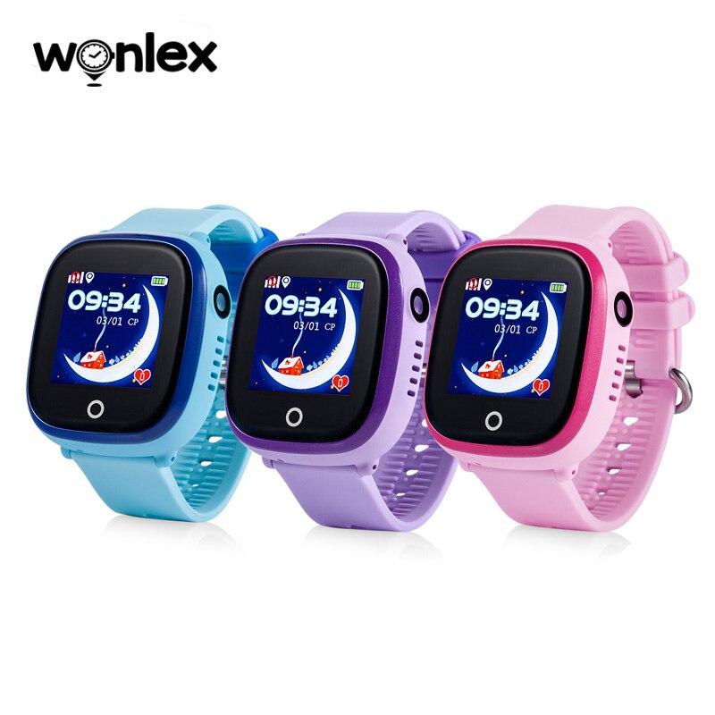 Wonlex gw400x câmera dupla à prova dip67 água ip67 gsm crianças relógio inteligente gps anti-lost com libras/gps que posicionam o relógio esperto do telefone das crianças