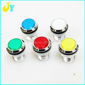 5V 12v Arcade Start Push LED 32mm CHROME Plated illuminated arcade push button with micro switch 5 color choose image