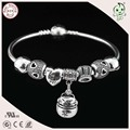 Good Quality European Famous Brand My Sweet Pet Series 925 Sterling Silver Charm Bangle For Girls And Ladies