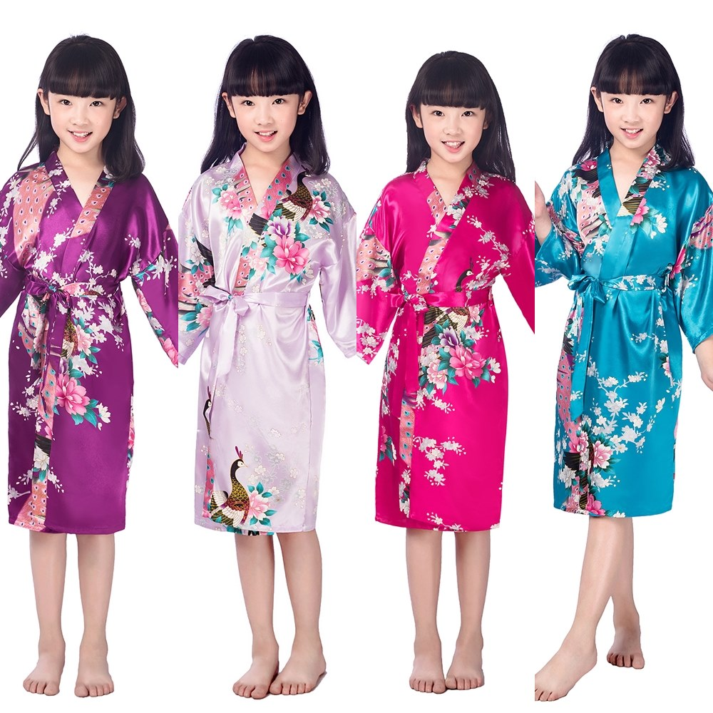 F1686 Children New Vintage Japanese Grils Kimono Kids Floral Print Dressing Gown Traditional In Robes From Womens Clothing Accessories