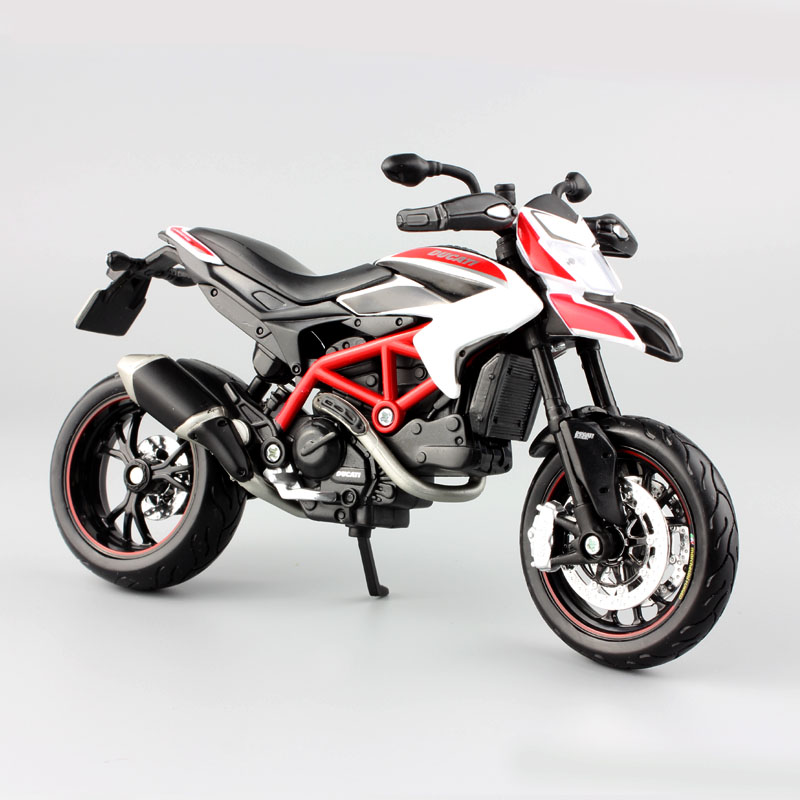 1/12 Scale Small Hypermotaro 1100 EVO SP Corse supermotard motorbike racing metal tank model car auto motorcycles toy for Kid