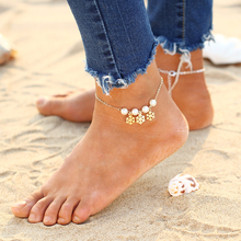 Latest Beach Anklet for Women Turquoise Beads Foot Bracelet Charm Jewelry