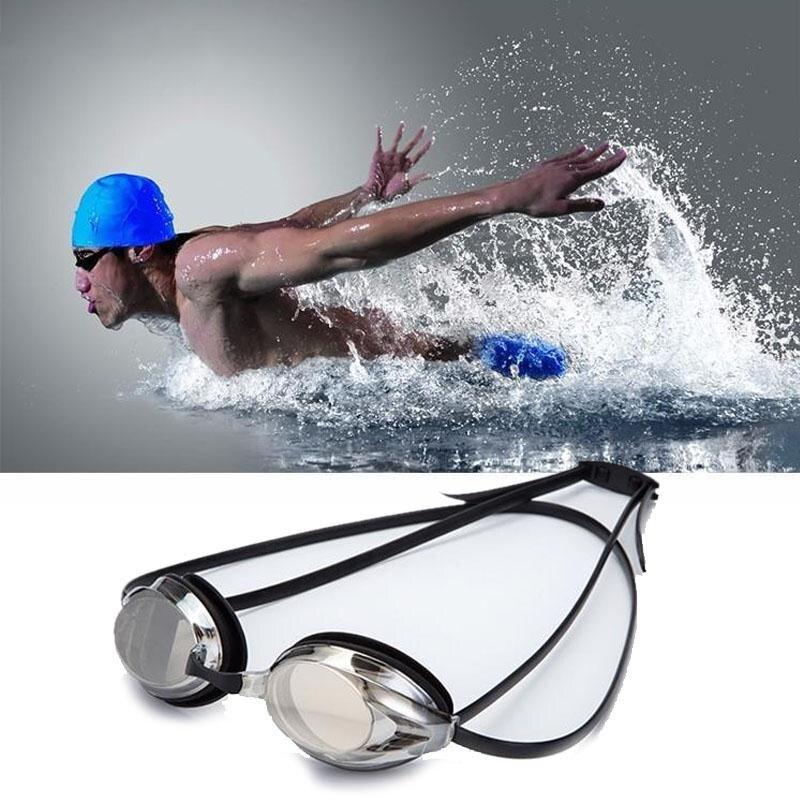 Plating Gafas de Natación profesional Anti-Niebla UV Ajustable Ajustable hombres