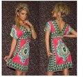 TFGS Мода Ретро 1960 s 1970 s Vintage Пейсли Печати V Шеи Хиппи Чешские Лето Dress Женщины Beach Dress
