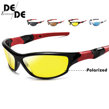 Night Vision Sunglasses Men Goggles Glasses UV400 Sun Yellow Lens HD Polarized Driving