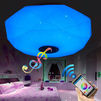 APP LED Music Ceiling Lights Led Phone Remote Control Ceiling Lamp Bluetooth Speaker RGB Colorful 24W