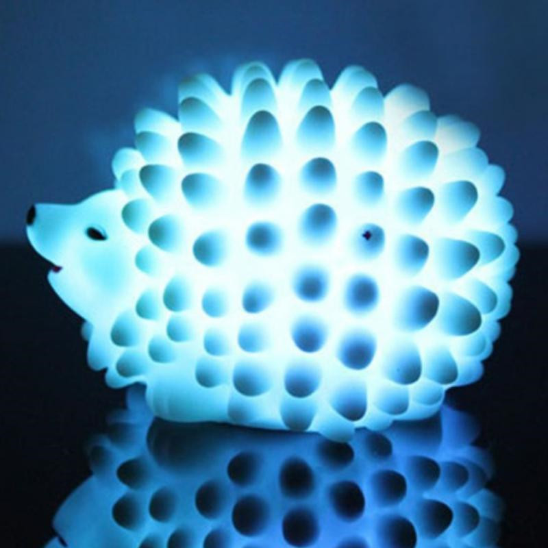 LED Night Light Hedgehog Shape Lamp For Baby Sleep Kids Room Bedside Christmas Present Gift