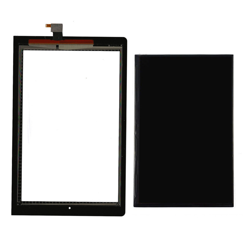 For Lenovo B8000 Yoga Tablet 10 60047 Black Touch Screen Digitizer Sensor Glass + LCD Display Panel Monitor ...