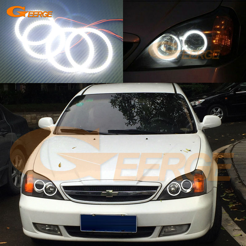 For Chevrolet Epica 2004 2005 2006 Excellent led angel eyes Ultra bright illumination smd led Angel Eyes Halo Ring kit