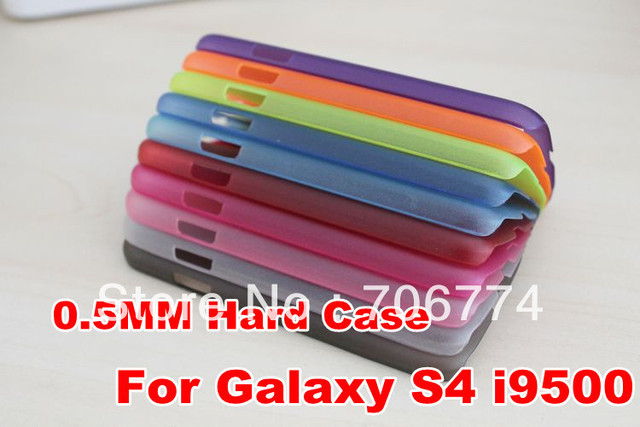Cheap 0.5mm case Hard PC Case Cover for Samsung Galaxy S4 i9500 translucent matte skin back cases 500pcs/lot