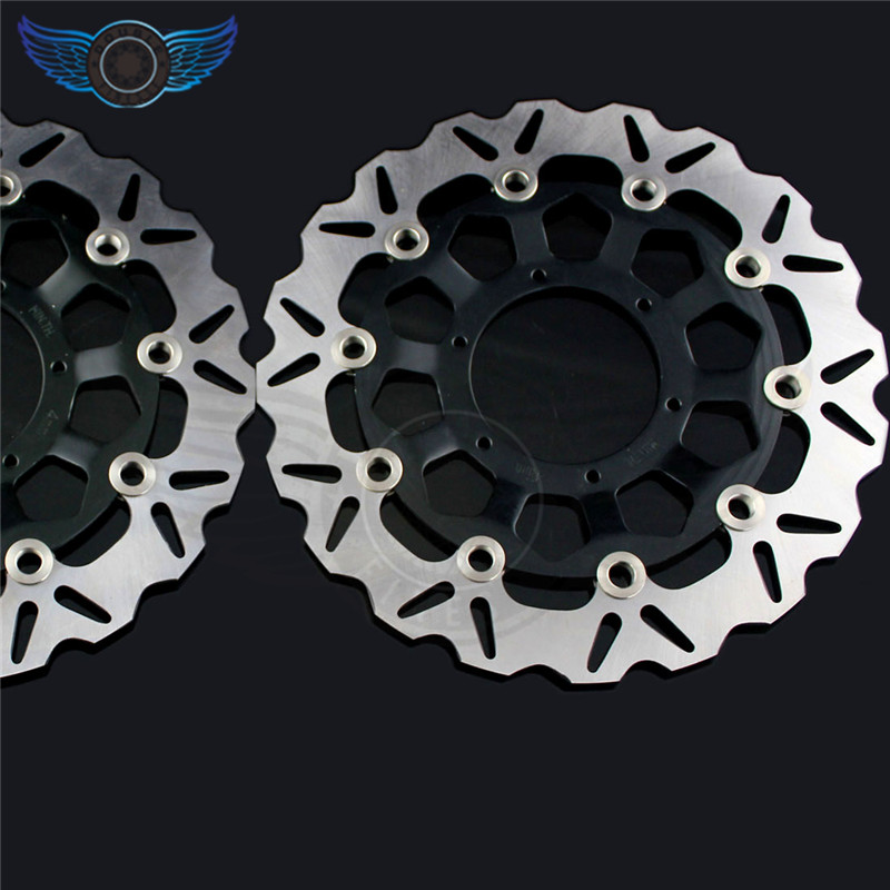 2 pieces motorcycle Front Brake Discs Rotor for Honda CBR600RR 2003 2004 2005 2006 2007 2008 2009 2010 2011 2012 2013 2014 aftermarket free shipping motorcycle parts eliminator tidy tail for 2006 2007 2008 fz6 fazer 2007 2008b lack