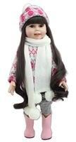 Nowy projekt najpopularniejszą lalka zimowa 18 cali fashion zagraj doll zabawki edukacji dla dziewczyny prezent urodzinowy lub prezenty świąteczne