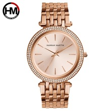Luxury Brand Rose Gold Women Dress Watches Fashion Stainless Steel Quartz Clock Ladies Bracelet Diamond Watch Relogio Feminino weiqin luxury crystal diamond gold bracelet watches women ladies fashion bangle dress watch woman clock hour relogio feminino