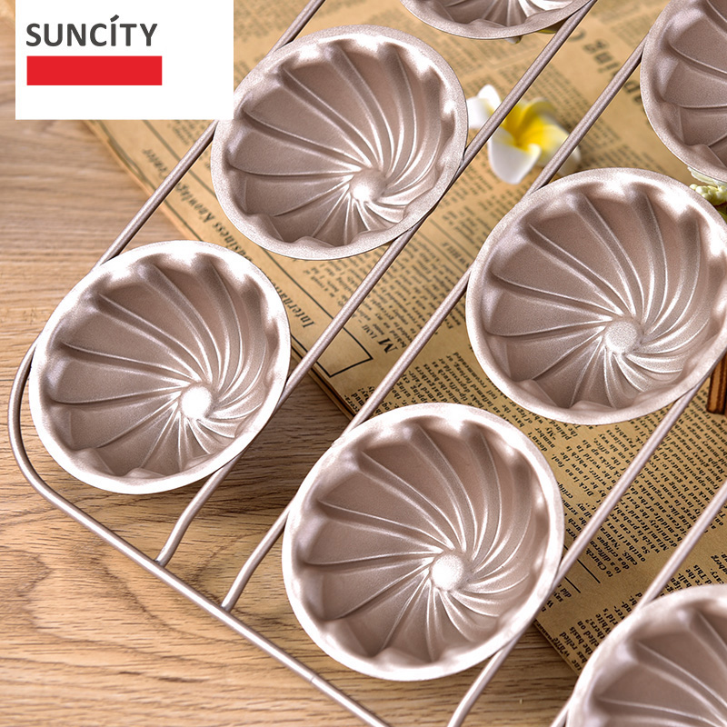 9 gota Tart Pan Metal Nonstick Lule Muffin Shporta Mishi i Kupës së - Kuzhinë, ngrënie dhe bar - Foto 2