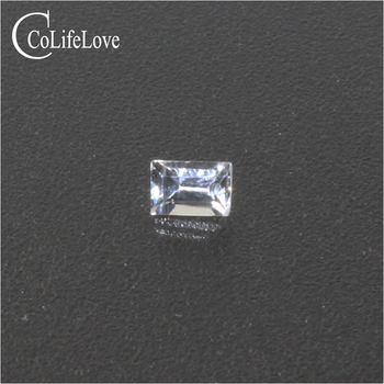 2mm * 3mm Emerald Cut White Sapphire Loose Stone VS Grade White Sapphire Loose Gemstone Side Gemstone for Gold Diamond Jewelry