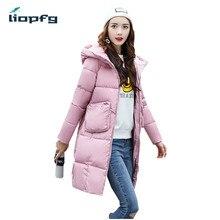 Зимняя куртка 2017 Женская обувь зимняя и осенняя одежда Высокое качество парки зимняя куртка женские длинные пальто WM808