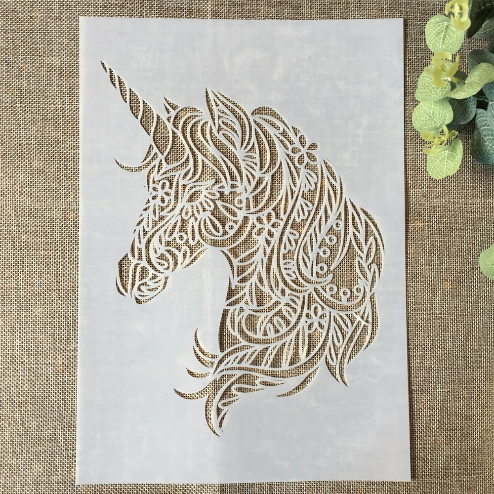29*21cm Unicorn DIY Layering Stencils Wall Painting Scrapbook Coloring Embossing Album Decorative Paper Card Template