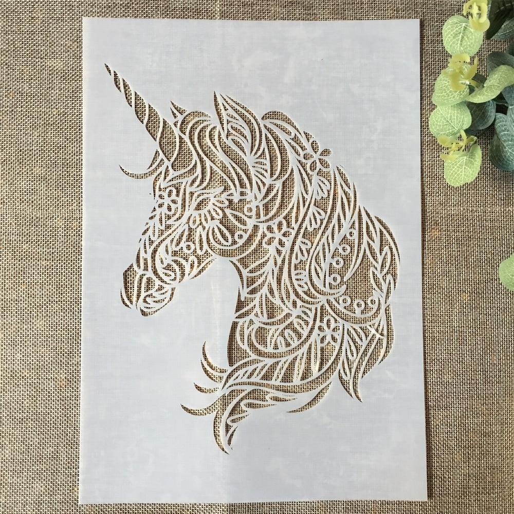 29*21cm Unicorn DIY Layering Stencils Wall Painting Scrapbook Coloring Embossing Album Decorative Paper Card Template