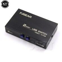 1 шт. беспроводной USB 2,0 коммутатор 2 порта адаптер Коробка для ПК Сканер Принтер высокоскоростной Черный