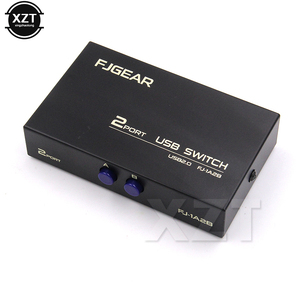 1PCS Wireless USB 2.0 Sharing Switch Switcher 2 Ports Adapter Box For PC Scanner Printer High speed Black