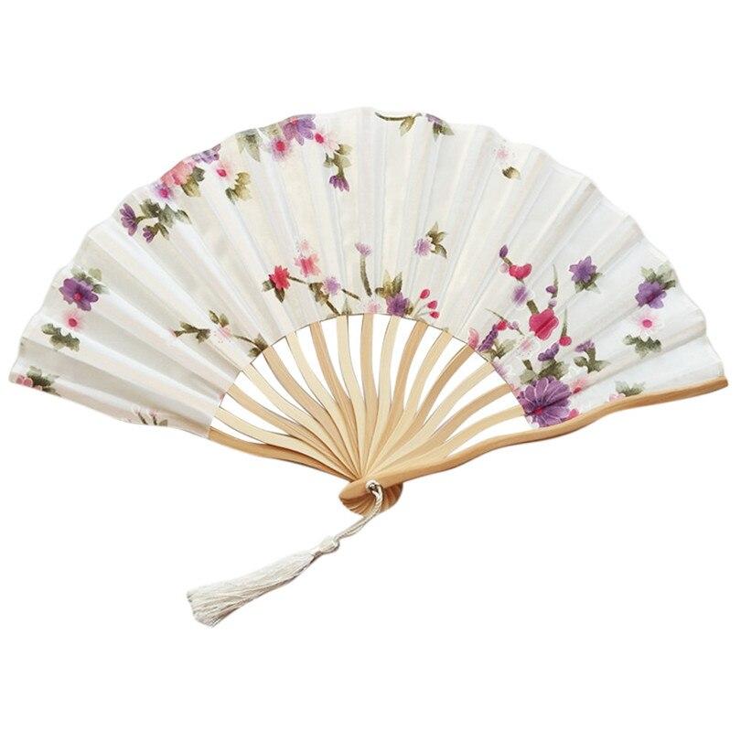 Hand Held Fans Silk Bamboo Fashion Chinese Japanese Folding Fans Handheld Folded Fan For Church Summer Art Craft Wedding Gift20