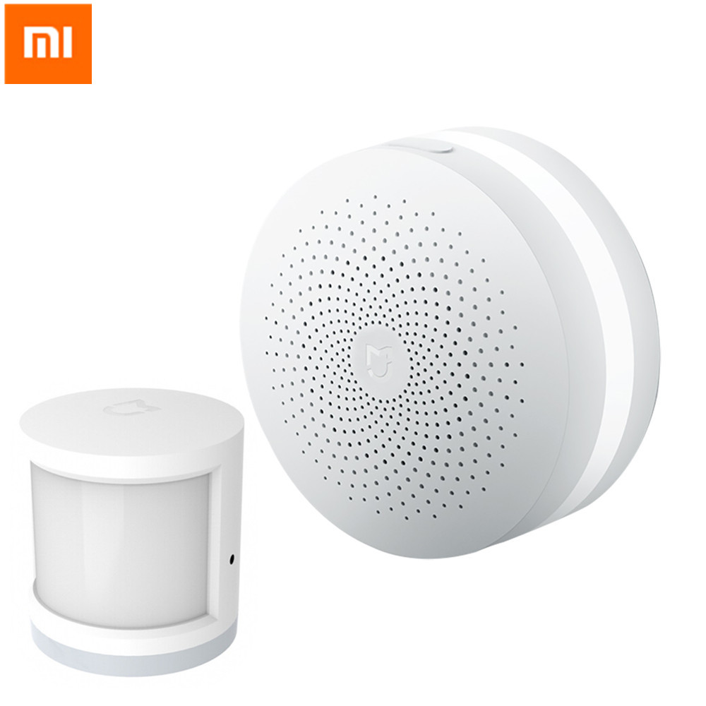 Original Xiaomi Smart Home Multifunctional Gateway Alarm System Control Center Human Body Sensor Smart Home Kits For Android IOS