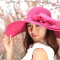 2016 Reentry día de verano temporada de protección solar para mujer de corea del balneario a lo largo de la sombrilla plegable grande sombrero de ala ancha