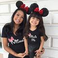 Familia Del Cartón Del Ratón Camisetas Niño Niños Niñas Adultos MAMÁ HIJA Camisas A Juego de la Ropa de la Familia Camiseta Tops