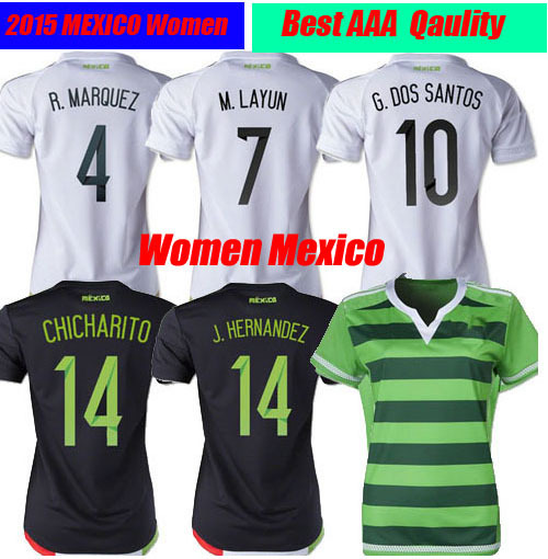 0039886e68f78 Thailand 2015 Women Mexico female CHICHARITO Soccer Jersey 15 16 Lady Mexico  Camiseta de Futbol 2016