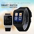 "Zgpax s8 1.54 ""bluetooth smartwatch smart watch phone mtk6572 dual core android 2.0mp cam sim 3g wifi gps 512 mb 4 gb relógio de pulso"