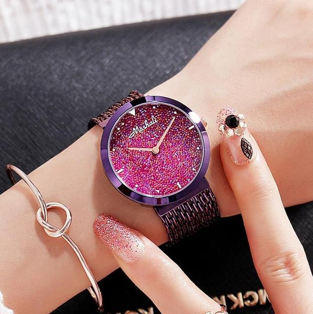 2017 Brand Gold Luxury Women Watches Tassel Steel Diamond Women Dress Wristwatch Lady Rhinestone Bracelet Watch Relogio
