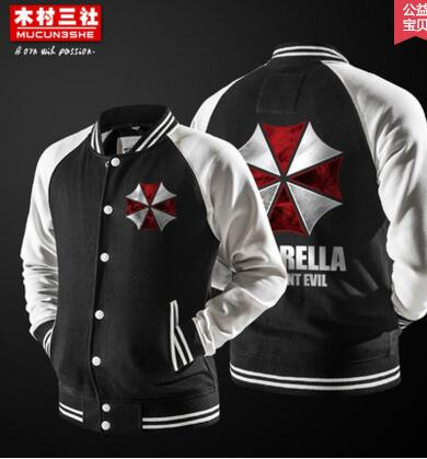 HD33 Autumn Winter Umbrella Resident Evil Sweatshirts Casual Hoodie Men Cosplay Costume Men s Game