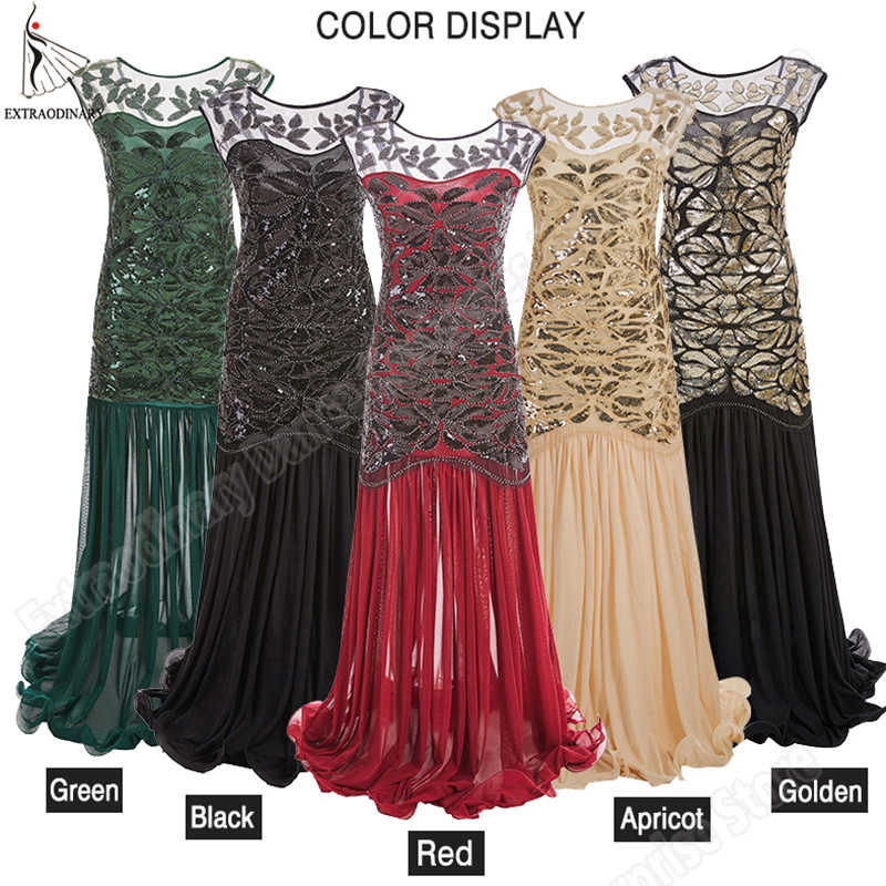 New Women 1920 s Flapper Dresses Vintage Great Gatsby Sequin Beads Party Dress Art Deco Double Sexy Sleeveless Costume